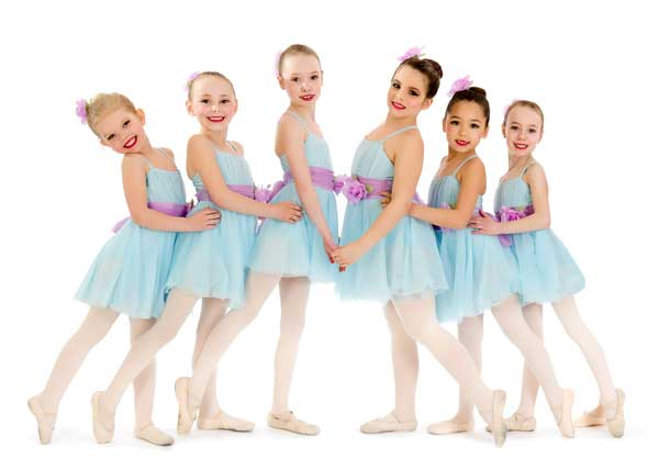 Girls pose for dance recital photo