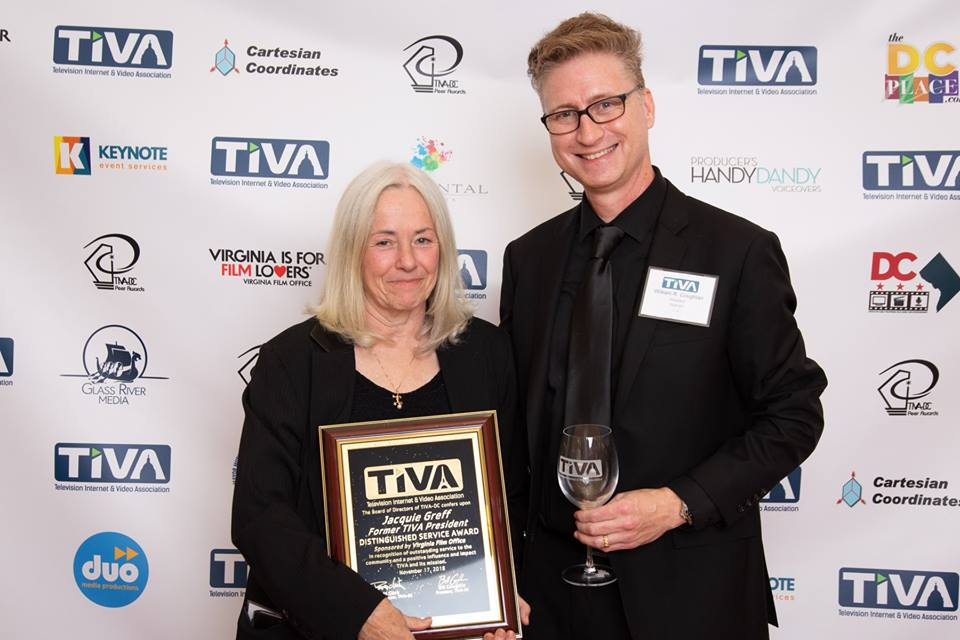 Jacquie Greff receives TIVA-DC Distinguished Service Award